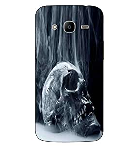 Case Cover Skull Printed Blue Hard Back Cover For Samsung Galaxy J2 2016 Edition / J2 Pro