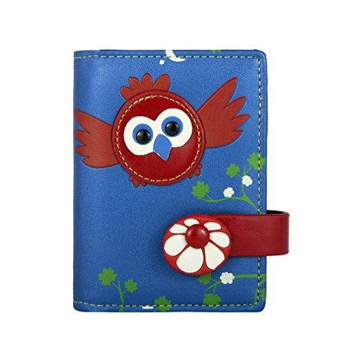 menkai-tarjetero-dessin-oiseau-cartes-en-relief-16-pochettes-transparentes
