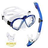Premium Kit de Snorkel WEINAS® Gafas de Buceo con Tubo (Compatibles con Cámara GoPro Hero) para Adultos Unisex Actividad Subacuática