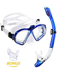 bd00683cb Premium Kit de Snorkel WEINAS® Gafas de Buceo con Tubo (Compatibles con  Cámara GoPro