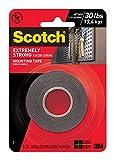 3M Scotch 414/DC Montageklebeband, extrem stark 2,5 x 152,4 cm in Schwarz