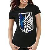A.N.T. Titan Aufklärungstruppe Wappen AOT Damen T-Shirt on Attack, Größe:M