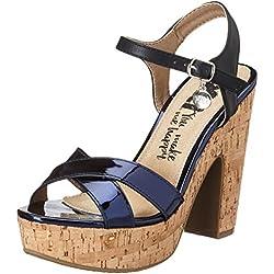 XTI Damen PU Ladies Sandals Pumps, Blau (Navy), 37 EU