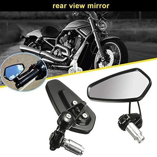 Espejos Retrovisores de Moto, Aolead 7/8' Retrovisor Moto Con Manillar para Moto Bicicleta Eléctrica de Scooter