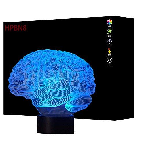 3D Gehirn Lampe USB Power 7 Farben Amazing Optical Illusion 3D wachsen LED Lampe Formen Kinder Schlafzimmer Nacht Licht