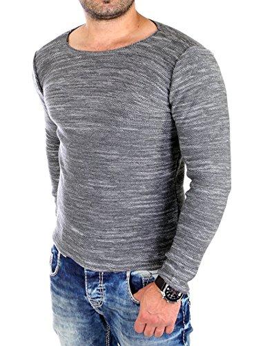 Reslad Strickpullover Pullover Herren Winter Pullis versch. Farben & Modelle 3125 Anthrazit