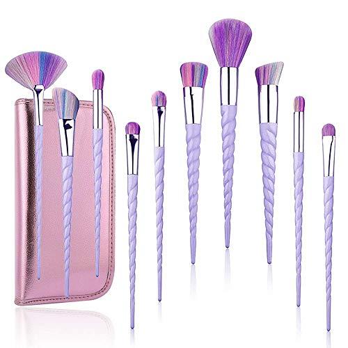 TTRwin Professionelle Make Up Pinsel Bürstensatz 10 Stück Einhorn,Kabuki Gesicht erröten Lippenlidschatten Eyeliner Foundation Powder Cosmetic Brushes Kit