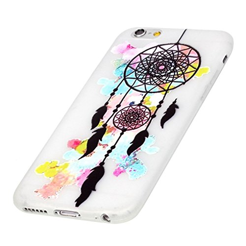 Skitic Ultra Thin Night Luminous TPU Schutzhülle für iPhone 5 / 5G / 5S / SE, Luxury Fashion Cool Vintage Painted Weich Flexible Transparent Rückseite Handy Tasche Schutz Hülle Case Cover Etui Bumper  Traumfänger