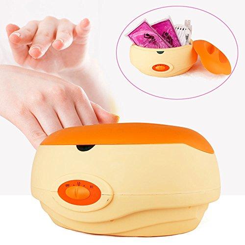 Paraffin Wachs Für Hand Bad Das (YAOBLUESEA Paraffin Wachsbad Paraffinbad Set für Hände und Füße mit Zubehör und 900g Wachs Orange)