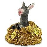 2 x Spardose Goldesel mit Schloss 12,5 cm Spar Dose Spar Schwein