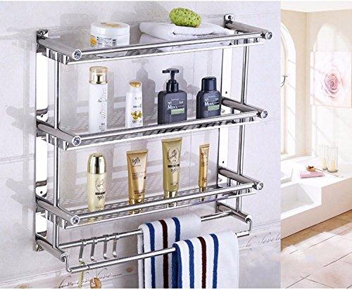 Mensola da bagno in acciaio inox moderno porta asciugamani da