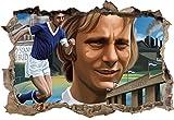 Fussballspieler Schalke, 3D Wandsticker Format: 92x62cm,