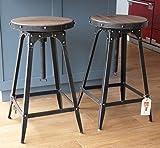 café-stil verstellbar Stuhl Urban Vintage Industriell Rustikale - Zinn