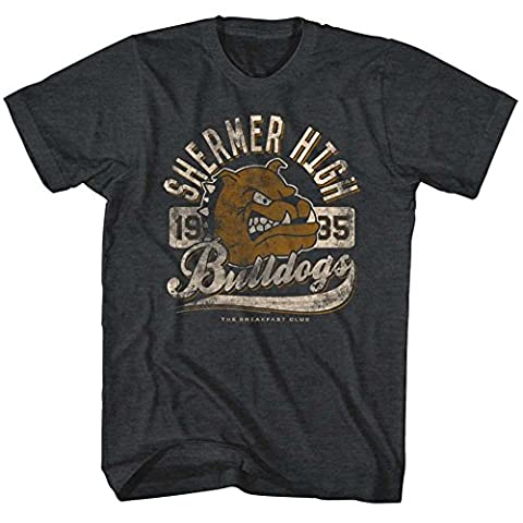 Breakfast Club - - Bulldog T-shirt pour hommes, XX-Large, Charcoal Heather
