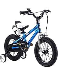 Royal Baby - vélo freestyle pour enfants avec stabilisateurs en taille 30, 35,56, 40,6, 45,72cm de couleur rouge, bleue, verte, orange, blanche avec bouteille d'eau et porte-bouteille