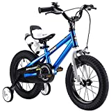 R BABY 16″ INCHES FREESTYLE BMX KIDS BIKE IN COLOUR RED GREEN BLUE AND WHITE + free heavy duty removable stabilisers + free sports wate bottle and holder(16″ blue)