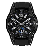Latest Fashionable Round Black Dial Blac...