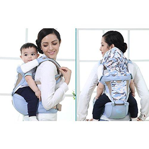 Haltung-support-weste (YAOBAO Babytrage, Baby Rucksack mit Hüftgurt Baby Komfortable und Sichere Haltung,Blue)