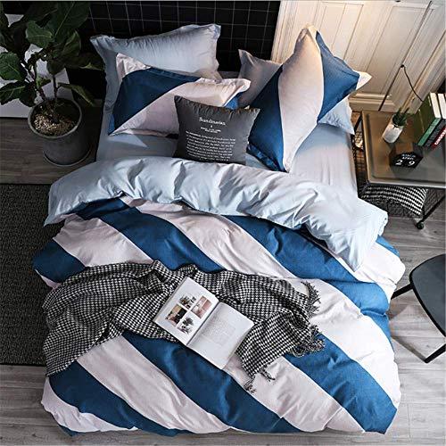 Bettwäsche Polyester Rosa Blumen Bettbezug Set Us King Queen Twin Bett Set Mädchen Bettbezug Bettbezug Blau 150x200cm (Rosa Twin-bett Für Mädchen)