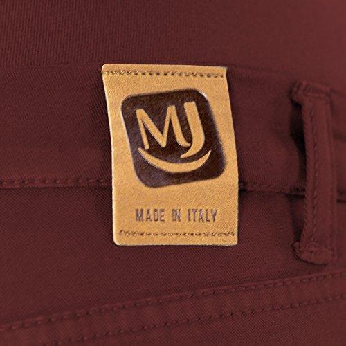 MAMAJEANS Milano - Skinny Fit Umstandsjeans, Grundlegende Jeggings Einfach Und Super Elastisch, Bequem Und Modisch Jeans für Schwangerschaft - Made in Italy (DE 34 - XS, Rot) -
