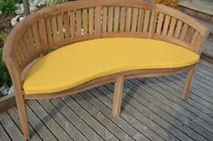 Coussin pour banc d'extérieur - Conçu pour banc en forme de banane / cacahuète - Couleur du coussin : taupe.