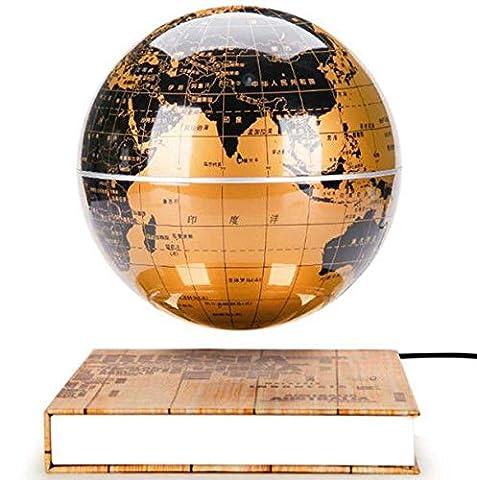 Geschenk Gold Globe mit Buch Base Magnetic Levitation, schwebende Welt Karte Weihnachten