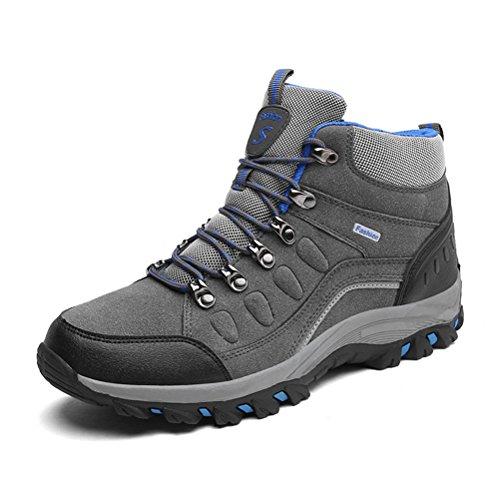 Super Lee Herren Damen Wasserdicht Trekking Boots Warm Gefüttert Wanderschuhe Outdoor Wander Schuhe Winter Stiefel 39-46 (Stiefel Winter Wasserdicht Für Männer)