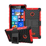 betterfon Microsoft Lumia 532 Rot Outdoor Hybrid Case
