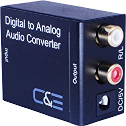 Digital Optical Coax To Analog Rl Audio Converter