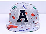 Boushi Graffiti Design Snapback Cap Hip Hop Cap Flat Cap Party cap 3D Print Collection Free Size