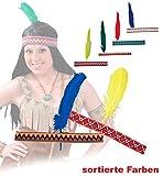 Fries 64900 Indianer Stirnband m. Feder versch. Modelle Kostüm Fasching Karneval