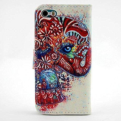 Monkey Cases® iPhone 6Plus 5,5pouces-Flip Case-Éléphants-Cover-Mat-Premium-Original-Nouveau-Sac-Elephants # 4