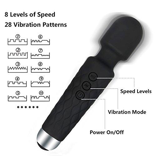 AIRMARK Vibratoren für sie Klitoris und G-punkt mit stoßfunktion, Silikon Dildo Rabbit Vibrator mit 7 Programmen,sexspielzeug für frauen und paare , 100%Wasserdicht, leise - 2