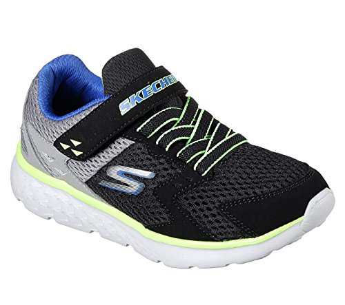 Skechers Go Run 400-Proxo, Formateurs Garçon Noir (Black/charcoal)