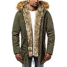 1153d254ce62 OZONEE Herren Winterjacke Parka Parkajacke Jacke Kapuzenjacke Wärmejacke  Wintermantel Coat AK-Club YL005