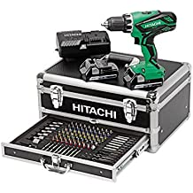 Hitachi KC18DJLF Perceuse visseuse 2 x 18 V 2,5 Ah + 100 Accessoires