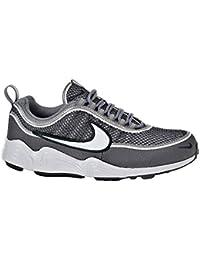 Mens Air Zoom Spiridon 16 Running Shoes, Colour: Iron Green Black Hyper Crimson Nike