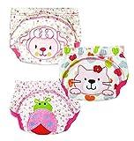 XHtrade 3Pcs nette Baby-Kinder-Training Pants Potty WC Hosen waschbare Tuch-Windel-Windel-Unterw?sche-M?dchen, XL