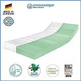 Ravensberger Matratzen 7-Zonen Matratze Softwelle | HR Kaltschaummatratze H3 RG 45 (80-120 kg) | MADE IN GERMANY - 10 JAHRE GARANTIE | ÖKO-TEX 100 Bezug Baumwoll-Doppeltuch 100x200 cm