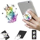 Waniu Erweiterungshalter und Halterungen für Alle Smartphones und Tablets- Weiß Einhorn Rose Gold Rosa Blau Glitter