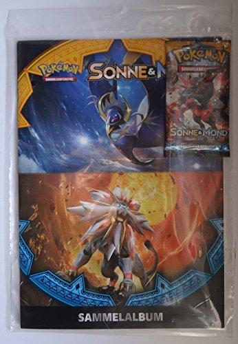 Preisvergleich Produktbild Pokemon Starterset Sonne und Mond Sammelalbum + 1Booster Pack