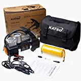 KATSU Tools 451717 Heavy Duty Tyre Inflator 12V Car Van Tire Air Compressor 5M Extendable Airline Hose, Multicoloured