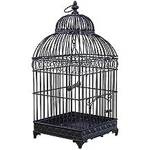 L Héritier Du Temps Petite Cage à Oiseaux de Jardin Intérieur Extérieur  Ronde en Fer 4f1f631c1460
