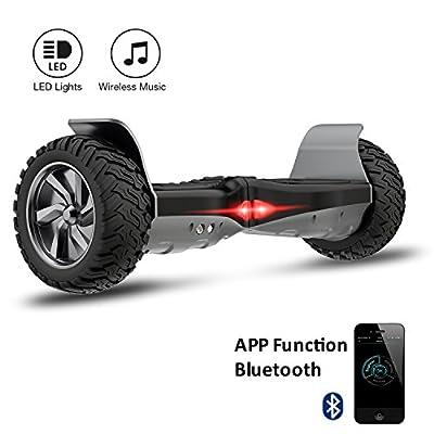 "Challenger Hoverboard Elektro Scooter Basic 8,5"" Offroad-Reifen E-Balance E-Skateboard Elektroroller SUV mit APP Funktion Bluetooth Tasche"