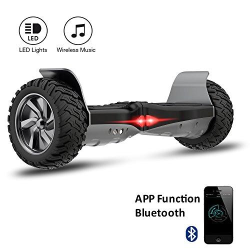 Cool&Fun Challenger Basic 8,5 Hoverboard SUV APP Elektro Scooter E-Balance E-Skateboard Elektroroller (Black)