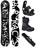 Airtracks SNOWBOARD SET - WIDE BOARD REFRACTIONS GAME 161 - SOFTBINDUNG STAR - SOFTBOOTS SAVAGE BLACK 46 - SB BAG