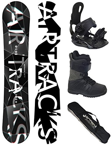 Airtracks SNOWBOARD SET - WIDE BOARD REFRACTIONS GAME 161 - SOFTBINDUNG STAR - SOFTBOOTS SAVAGE BLACK 45 - SB BAG