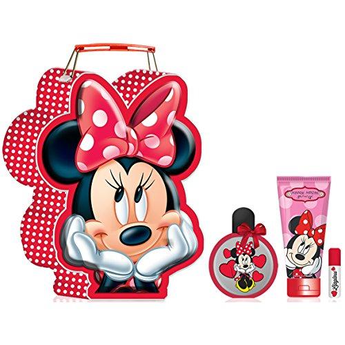 Disney Minnie Mouse Tragebox Set - 1x Eau de Toilette 50 ml, 1x Duschgel 100 ml, 1x Lipgloss 5 ml, 1er Pack (1 x 0.451 kg)