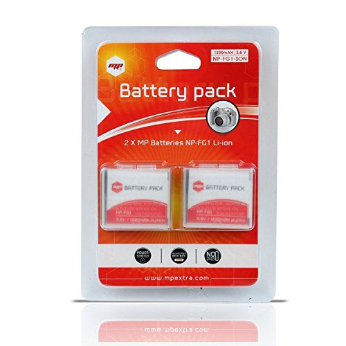Akku (x2) NP-FG1, NPFG1 für Sony Np-fg1 Lithium-batterie