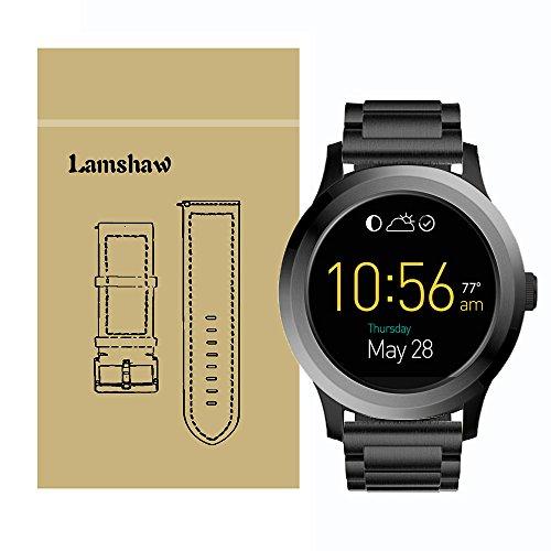 Ceston Edelstahl Metall Classic Ersatz Uhrenarmband Für Fossil Q Founder (Schwarz)